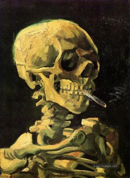 Vincent Van Gogh Werke - Skull with Burning Cigarette Vincent van Gogh
