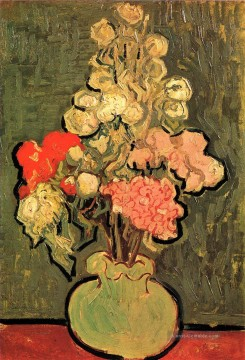Stillleben Vase mit Rose Mallows Vincent van Gogh Ölgemälde