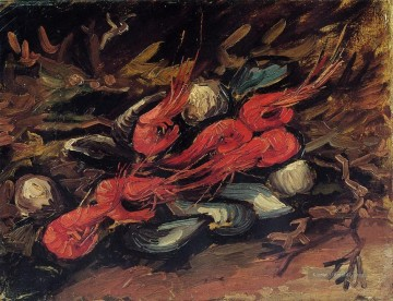 Vincent Van Gogh Werke - Still Life with Mussels and Shrimp Vincent van Gogh
