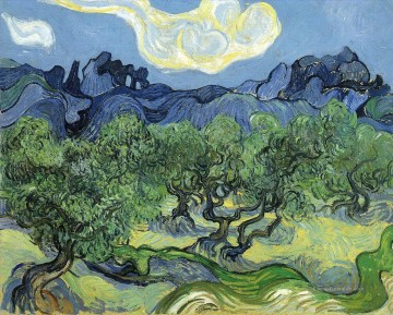 The Alpilles with Olive Trees in the Foreground Vincent van Gogh Ölgemälde