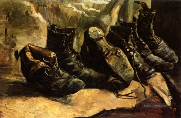 Three Pairs of Shoes Vincent van Gogh Ölgemälde