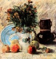 Vase with Blumen Coffeepot and Fruit Vincent van Gogh