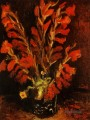 Vase with Red Gladioli Vincent van Gogh