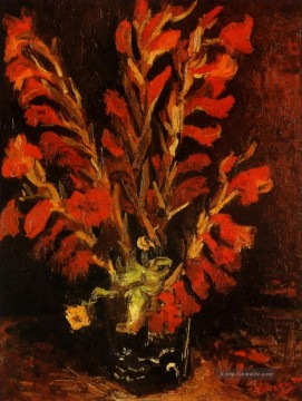 Vincent Van Gogh Gemälde - Vase with Red Gladioli Vincent van Gogh