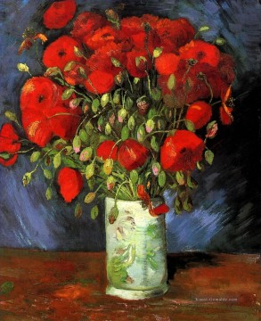 Vase with Red Poppies Vincent van Gogh Ölgemälde