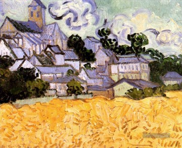 Vincent Van Gogh Werke - View of Auvers with Church Vincent van Gogh