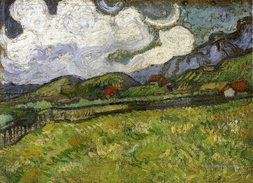 Vincent Van Gogh Werke - Wheat Field behind Saint Paul Hospital with a Reaper Vincent van Gogh