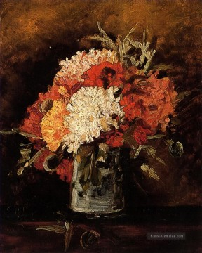 Vincent Van Gogh Gemälde - vase with carnations 2 Vincent van Gogh