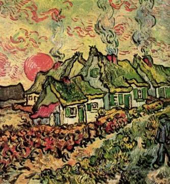 Cottages Reminiscence des Nordens Vincent van Gogh Ölgemälde