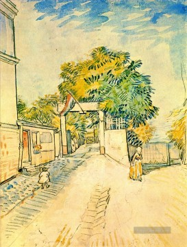 Vincent Van Gogh Werke - Entrance to the Moulin de la Galette Vincent van Gogh