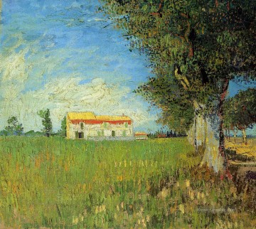 Vincent Van Gogh Werke - Farmhouse in a Wheat Field Vincent van Gogh