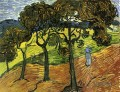 Landschaft with Trees and Figures Vincent van Gogh