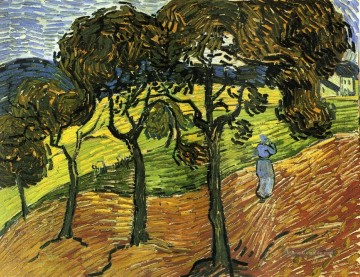 Vincent Van Gogh Werke - Landschaft with Trees and Figures Vincent van Gogh