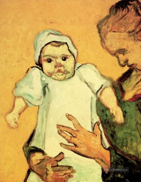 Vincent Van Gogh Werke - Mother Roulin with Her Baby 2 Vincent van Gogh