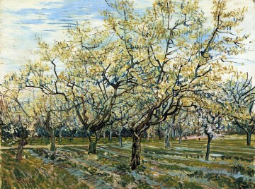 Vincent Van Gogh Werke - Orchard with Blossoming Plum Trees Vincent van Gogh