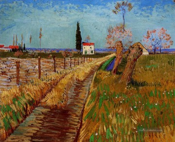 Vincent Van Gogh Werke - Path Through a Field with Willows Vincent van Gogh