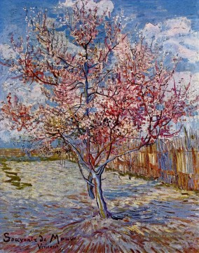 Vincent Van Gogh Werke - Peach Tree in Bloom in memory of Mauve Vincent van Gogh