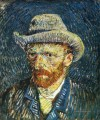 Self Porträt with Felt Hat Vincent van Gogh