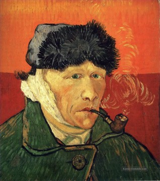 Vincent Van Gogh Werke - Self Porträt with bandaged ear Vincent van Gogh