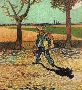 Vincent Van Gogh Werke - Selfportrait on the Road to Tarascon Vincent van Gogh