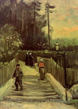 Sloping Path in Montmartre Vincent van Gogh Ölgemälde