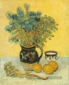 Still Life Majolica Jug with Wildflowers Vincent van Gogh