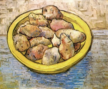 Vincent Van Gogh Werke - Still Life Potatoes in a Yellow Dish Vincent van Gogh