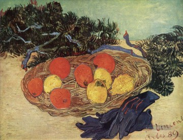 Still Life with Oranges and Lemons with Blue Gloves Vincent van Gogh Ölgemälde