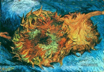 Vincent Van Gogh Werke - Still Life with Two Sonnenblumen Vincent van Gogh