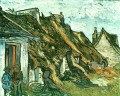 Thatched Cottages in Chaponval Auvers sur Oise Vincent van Gogh