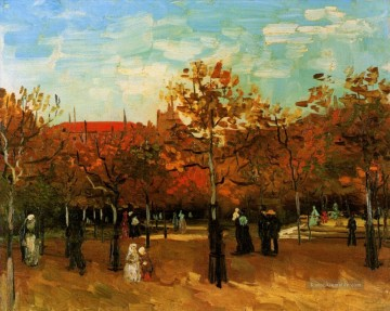 Vincent Van Gogh Werke - The Bois de Boulogne with People Walking Vincent van Gogh