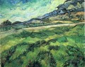 The Green Weizenfeld hinter dem Asylum Vincent van Gogh