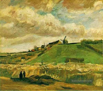 Vincent Van Gogh Werke - The Hill of Montmartre with Quarry Vincent van Gogh