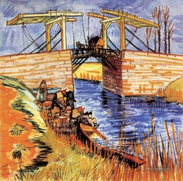 The Langlois Bridge at Arles 2 Vincent van Gogh Ölgemälde