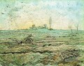 The Plough und die Egge nach Hirse Vincent van Gogh
