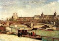 The Pont du Carrousel and the Louvre Vincent van Gogh