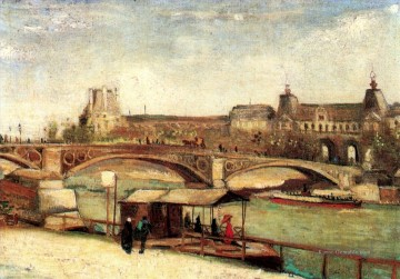 Vincent Van Gogh Werke - The Pont du Carrousel and the Louvre Vincent van Gogh
