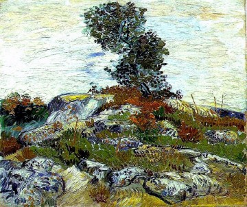 Vincent Van Gogh Werke - The Rocks with Oak tree Vincent van Gogh