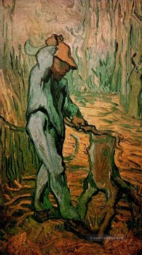 Vincent Van Gogh Werke - The Woodcutter after Millet Vincent van Gogh