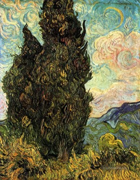 Two Cypresses Vincent van Gogh Ölgemälde