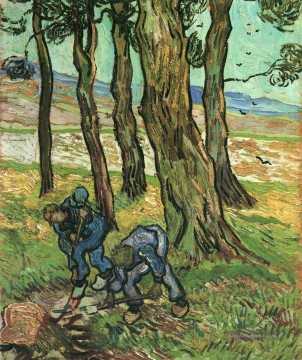 Vincent Van Gogh Gemälde - Two Diggers Among Trees Vincent van Gogh