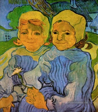 Vincent Van Gogh Werke - Two Little Girls Vincent van Gogh