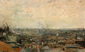 View of Paris from Montmartre Vincent van Gogh Ölgemälde