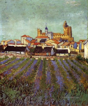 View of Saintes Maries Vincent van Gogh Ölgemälde