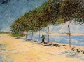Walk Along the Banks of the Seine Near Asnieres Vincent van Gogh