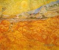 Wheat Field behind Saint Paul Hospital with a Reaper Vincent van Gogh
