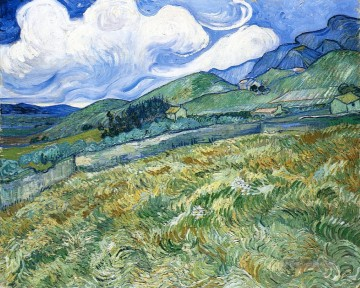 Vincent Van Gogh Werke - Wheatfield with Berge in the Background Vincent van Gogh