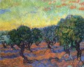 leben Grove orange Himmel Vincent van Gogh