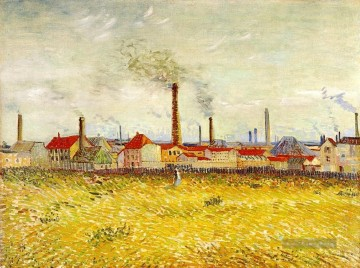 Vincent Van Gogh Werke - Factories at Asnieres Seen from the Quai de Clichy Vincent van Gogh