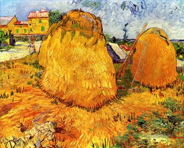 Haystacks in Provence Vincent van Gogh Ölgemälde
